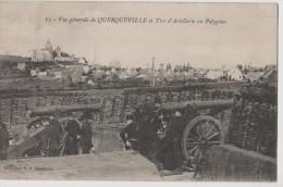 Carte 1905 VUE GENERALE DE QUERQUEVILLE ET TIRS D´ARTILLERIE AU POLYGONE - France