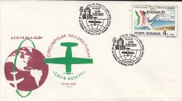 37908- CIRCUMPOLAR RECORD FLIGHT, CALIN ROSETTI, SPECIAL COVER, 1987, ROMANIA - Polar Flights