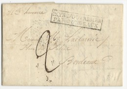 """GUADELOUPE - 1830 - LETTRE De POINTE à PITRE Pour BORDEAUX - ENTREE """"PAYS D´OUTREMER PAR BORDEAUX"""" - 1801-1848: Précurseurs XIX"""