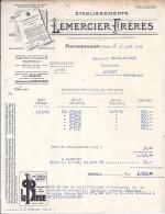 70 . HAUTE SAONE . FOUGEROLLES . 1942 . DISTILLERIE PASTIS LEMERCIER FRERES - France