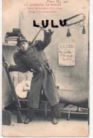 MILITARIA : Humour Précurseur 2 Scans : La Journée De Pitou , Permission ( Trompette Fusil ) écrite De Digne En 1903 - Umoristiche