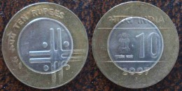 (J) INDIA: 10 Rupees BIM 2007 BU (112) - Inde