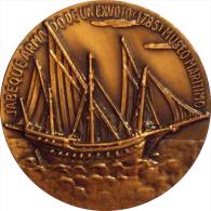 ESPAÑA. MEDALLA XI SALON NAUTICO INTERNACIONAL BARCELONA 1973. JABEQUE ARMADO DE UN EXVOTO. SPAIN. ESPAGNE - Profesionales/De Sociedad
