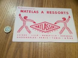"Buvard ""MATLASSOR - MATELAS À RESSORTS"" - M"