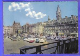 Carte Postale 59. Lille  Grand'Place  DS Citroën Voitures  Trés  Beau Plan - Lille