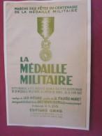 MILITARIA PARTITION CHANSON MARCHE DES FETES DU CENTENAIRE MEDAILLE MILITAIRE 12 JUIN 1952 MUSIQUE LEO NEGRE/FAURE MURET - Partitions Musicales Anciennes