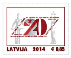Latvia 2014 Mih. 903 Diplomatic Relations With Georgia (joint Issue Latvia-Georgia) MNH ** - Latvia