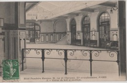 Carte 1911 Hotel Populaire Hommes : 94 Rue De Charonne à Paris : Entrée Du Hall Et Vestibule - Distretto: 11