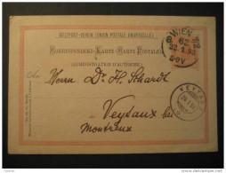 Wien 1898 To Veytaux Montreux Suisse Postal Stationery Card - Postwaardestukken