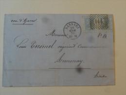 Lettre De Sassari Sardaigne 1870 Cachet D'entree Voie D'Ajaccio Manuscrit Pour Annonay Ardeche - 1861-78 Victor Emmanuel II.