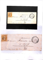 GERS - PC 2863 - SEISSAN - Superbe Lettre - Superbe Frappe -indice  14 Pothion - Postmark Collection (Covers)
