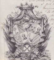 E3086 CUBA ESPAÑA SPAIN MILITAR DOCS FAMILY GIL DE AVALLE. NOBILIARY. 1849. - Documentos Históricos