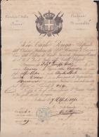 E3087 CUBA CONSULATE OF ITALY IN HAVANA CONSULAR DOC 1870. BIRTH ACT - Documentos Históricos