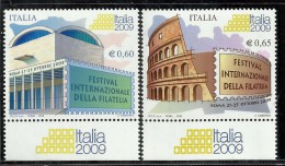ITALIA REPUBBLICA ITALY REPUBLIC 2008 FESTIVAL INTERNAZIONALE DELLA FILATELIA 2009 MNH - 6. 1946-.. Repubblica