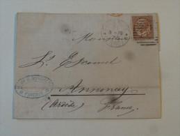 Lettre De Firenze 1879 Cachet Ferrovia Pour Annonay Ardeche - 1861-78 Victor Emmanuel II.