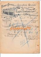Lettre:    FRESNES(Nord).   FABRIQUE DE FERRONNERIE ET QUINCAILLERIE.    EUGENE DAMLAINCOURT.    1912. - France