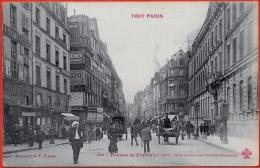 CPA 75001 TOUT PARIS - Banque De France - Rue Croix-des-Petits-Champs ° Collection F. Fleury N° 104 - Arrondissement: 01