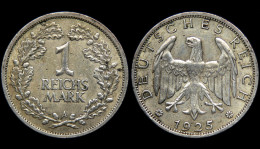 1 Reichsmark 1925 A. Allemagne/Germany. Argent/Silver - [ 3] 1918-1933 : Weimar Republic