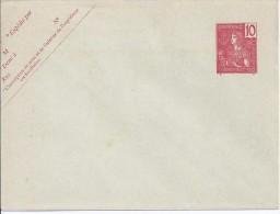 INDOCHINE - ENTIER POSTAL ENVELOPPE 18 - 10 ROUGE 123 X 96 NEUF - Indochina (1889-1945)