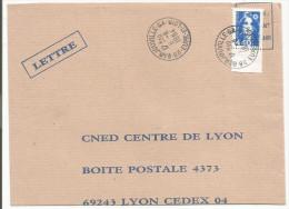 OBLITERATION MANUELLE SUR LETTRE DE BARJOUVILLE - GA (EURE ET LOIR) 1994 - Marcophilie (Lettres)