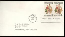 FDC 1972 - Scott 1455- Cancelled NEW YORK - FAMILY PLANNING - WITH 2 STAMPS IN LINE - Premiers Jours (FDC)