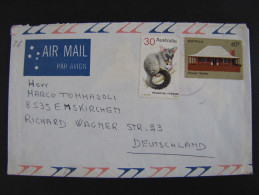 """AUSTRALIA - """"Historia Postal"""" VICTORIA>EMSKIRCHEN (descrizione) - 1966-79 Elizabeth II"""