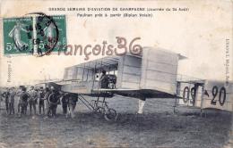 (51) Grande Semaine D'Aviaton De Champagne - Paulhan - Aviateur Avion - 2 SCANS - France