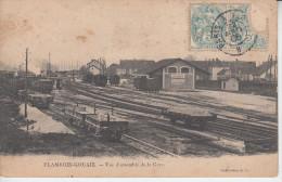 FLAMBOIN GOUAIX - Vue D´ensemble De La Gare ( ETAT ) Publicité Pastille VICHY ETAT  PRIX FIXE - Autres Communes