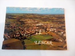 Carte Postale Ancienne : LESCAR : Vue Générale Aérienne En 1970 - Lescar