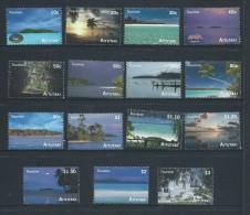 Aitutaki 2010 Tourism Island Views Set Of 15 MNH - Aitutaki