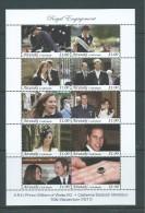 Aitutaki 2011 Prince William & Kate Engagement Miniature Sheet Of 10 X $1 Values MNH - Aitutaki