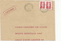 OBLITERATION MANUELLE SUR LETTRE DE CESTAS REJOUIT - AP (GIRONDE) 1994 - Marcophilie (Lettres)