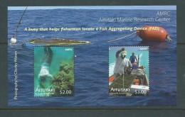 Aitutaki 2011 Clam & Marine Research Miniature Sheet Of 2 Values MNH - Aitutaki