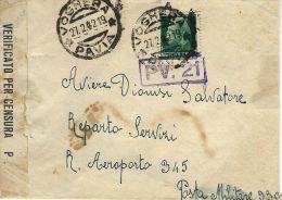 BUSTA POSTA MILITARE 3300 1942 CONC ROMA AEROPORTO 345 Da VOGHERA - Militärpost (MP)