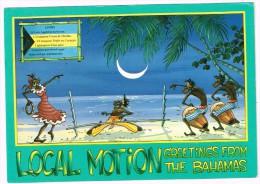 O1887 Greetings From Bahamas - Local Motion - Limbo Drink - Humor Illustration - Nice Stamps Timbres Francobolli - Bahamas
