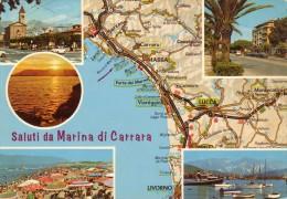 Cartolina ITALIA TOSCANA CARRARA  SALUTI Italy  Postcard Italie Carte Postale Italien Ansichtskarte - Carrara