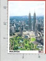 CARTOLINA VG MALESIA - KUALA LUMPUR - Petronas Twin Tower - 12 X 17 - ANN. 2009 - Malesia