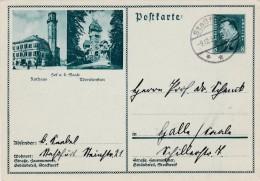 Hof  A. D. Saale. Stempel Strassfurt - Germania