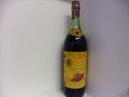 ANTIGUA BOTELLA DE 1 LITRO BRANDY FELIPE II VINTAGE Años 1960/66 - Spiritus