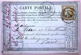 CACHET TYPE 18 Sur N° 55  --  EVREUX  --  EURE  --  LAC  --  1876 - Marcophilie (Lettres)