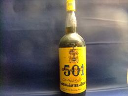 ANTIGUA BOTELLA DE LITRO BRANDY 501 VINTAGE Años 1970 / 1980 - Spirits