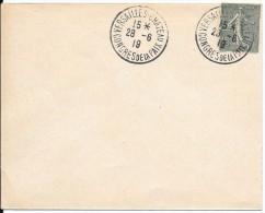 LF 800 Cachet Du Congrés De La Paix à Versailles-Chateau Sur N°130 Et Enveloppe Du Sénat En 1919 - Autres