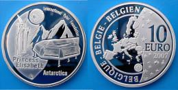 BELGIUM 10 E 2007 ARGENTO PROOF SILVER EURO INTERNATIONAL POLAR FOUNDATION BELGIE PESO 18,75g TITOLO 0,925 CONSERVAZIONE - Belgio