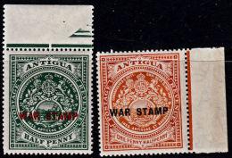 A0497 ANTIGUA 1916, SG 53-4 War Stamp Overprints,  MNH - 1858-1960 Crown Colony