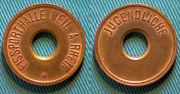 01745 GETTONE JETON TOKEN JUGENNDLICHE EISSPORTHALLE WEIL A. RHEIN - Duitsland