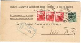 R861) UMBERTO II RACCOMANDATA APERTA Del 10.5.46 - 5. 1944-46 Luogotenenza & Umberto II