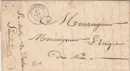 Lettre Cachet Sardaigne Poggetto Pour Nice 1851 - Sardaigne