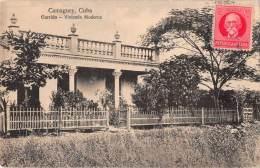 "04923 ""CAMAGUEY . CUBA - GARRIDO - VIVIENDA MODERNA"" ANIMATA. CART. POST. ORIG. SPEDITA 1929. - Cuba"