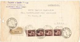 R859) UMBERTO II RACCOMANDATA Del 23.5.46 - 5. 1944-46 Luogotenenza & Umberto II