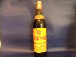 ANTIGUA BOTELLA BRANDY VIEJO CAVA 16 CONTENIDO 3/4 LITRO VINTAGE 1960 / 1970 - Spirits
